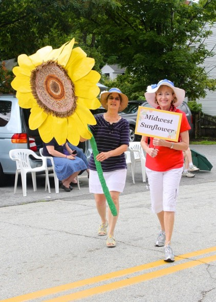 Diane, Pat and our Sunflower