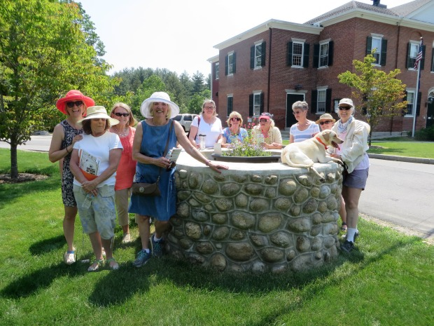 Members of the garden club pose in front to the historic horse trough (June 2017)Members of the garden club pose in front to the historic horse trough (June 2017)